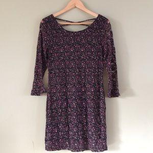 Sz L Floral Bodycon Lace Dress